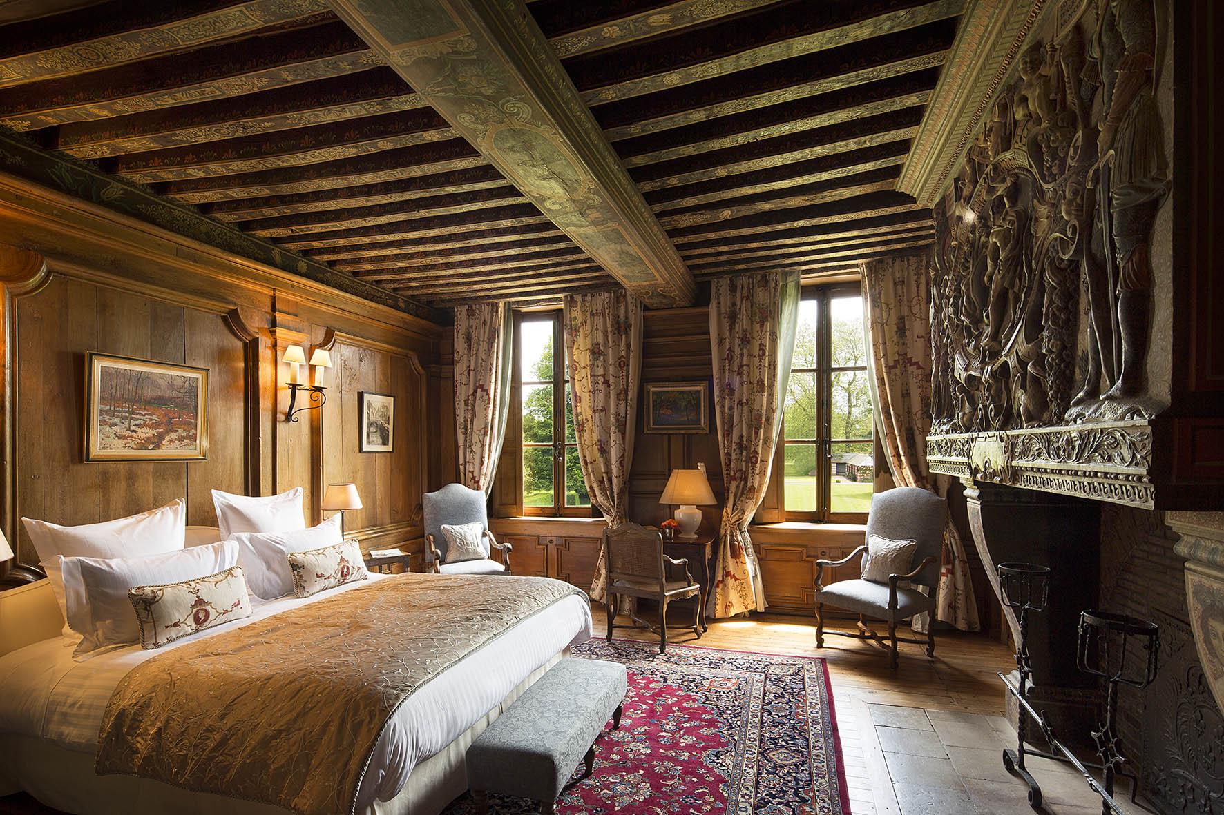 Chateau de Bénéauville chambre hercule
